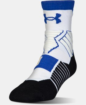New Arrival Men's UA Drive SC30 Mid Basketball Socks  1 Color $17.99