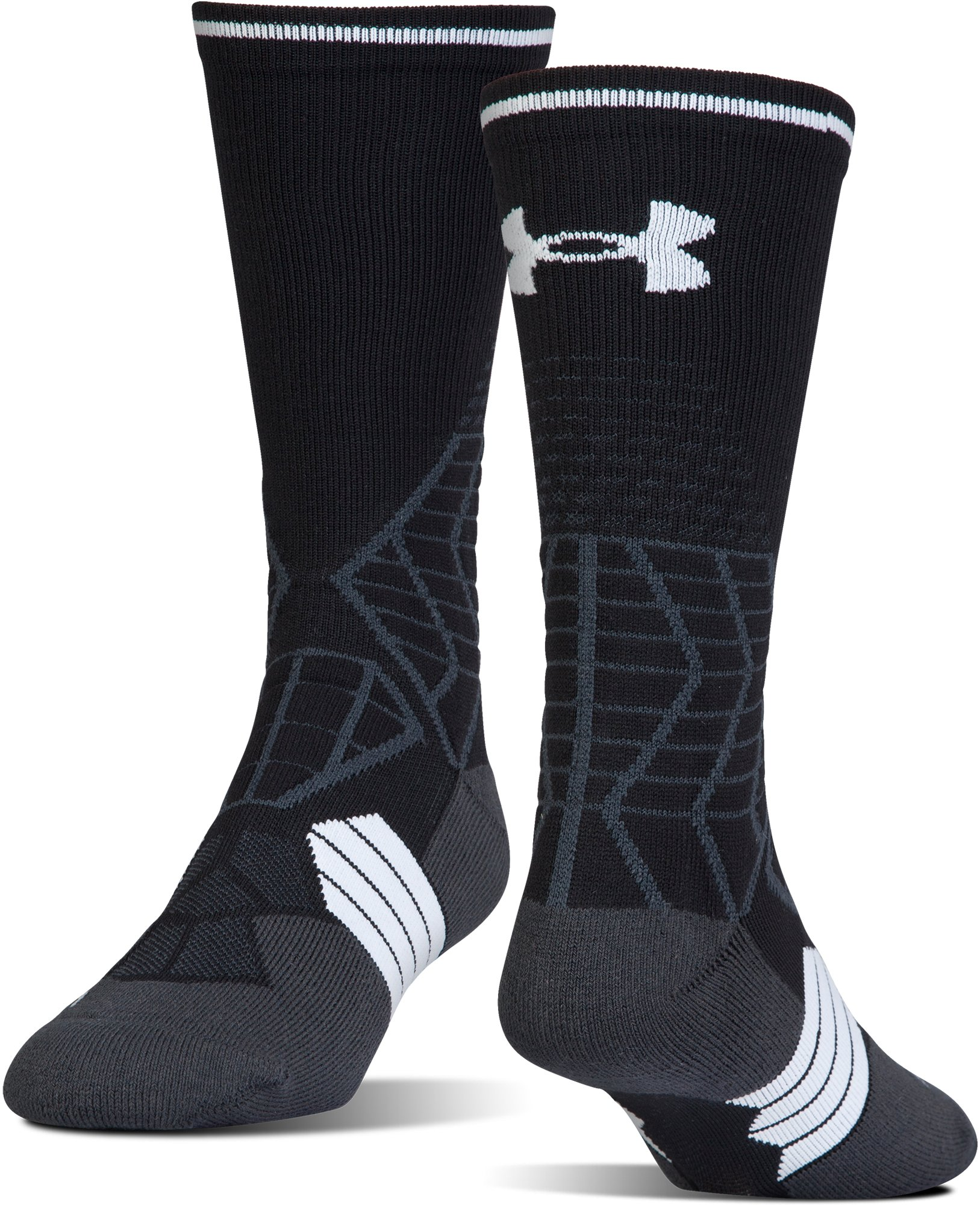 Men's UA Highlight Football Crew Socks, Black