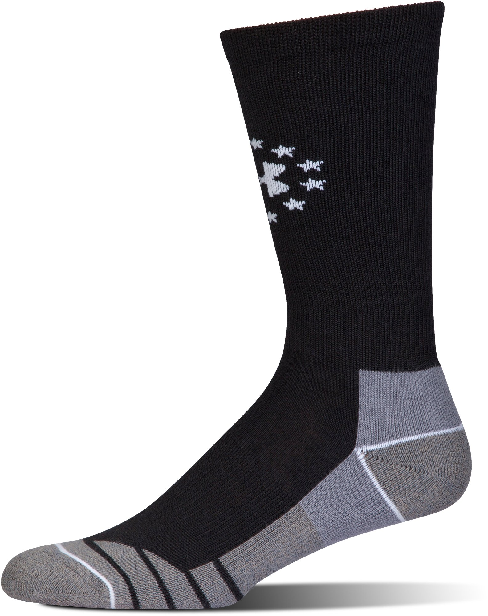 Men's UA Hitch Lite Freedom Boot Socks, Black , undefined