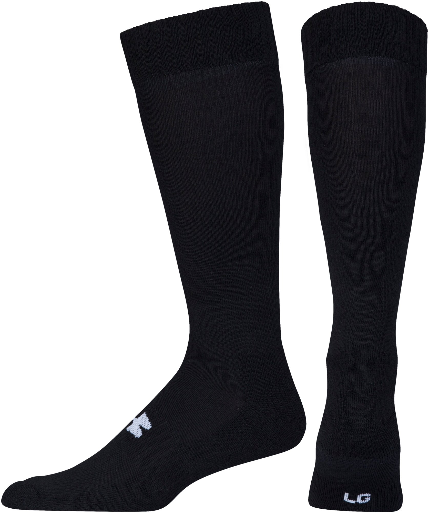Men's UA Tactical HeatGear® Over-The-Calf Socks, Black , undefined