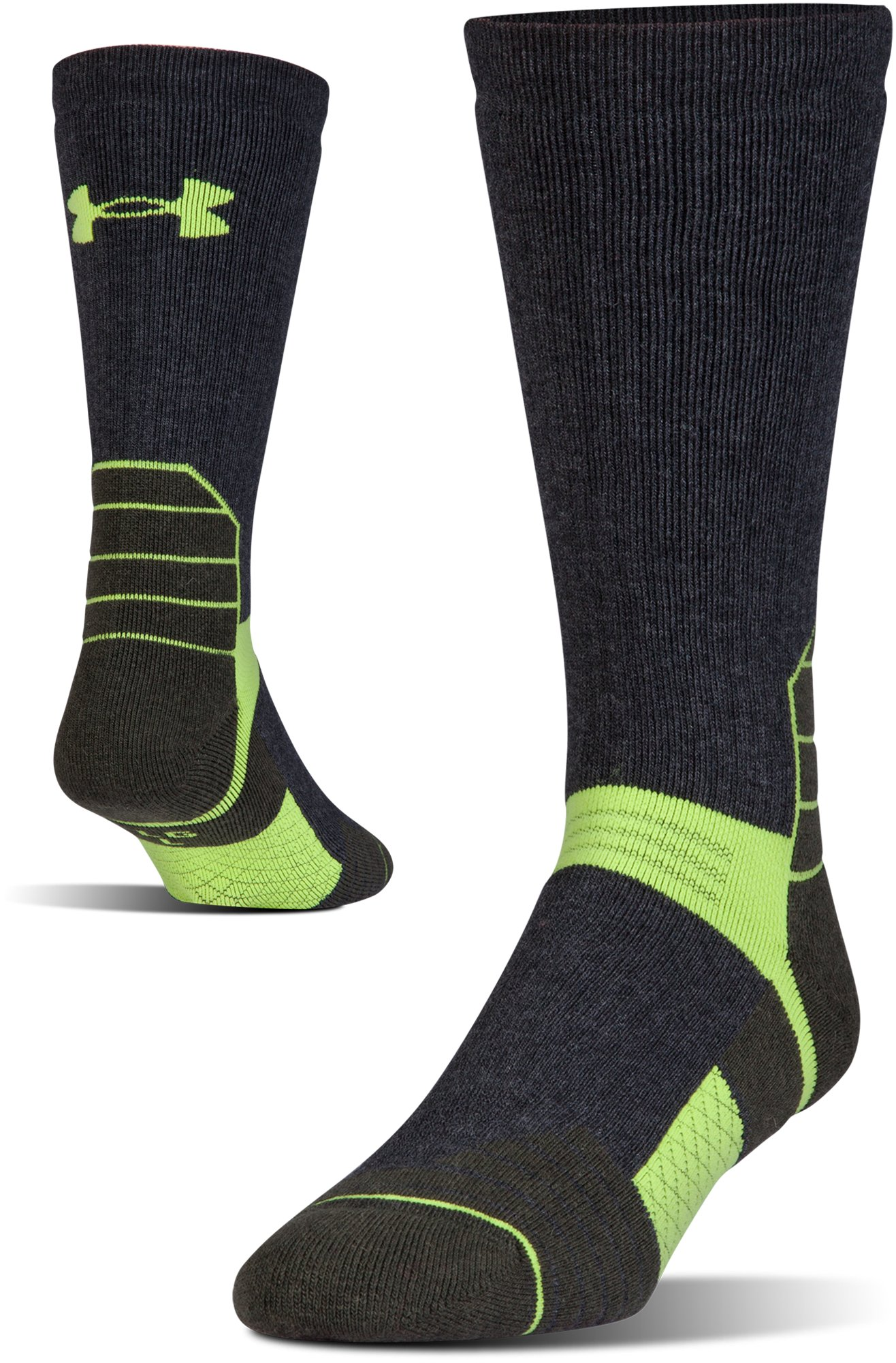 Men's UA Scent Control Boot Socks, Asphalt Heather
