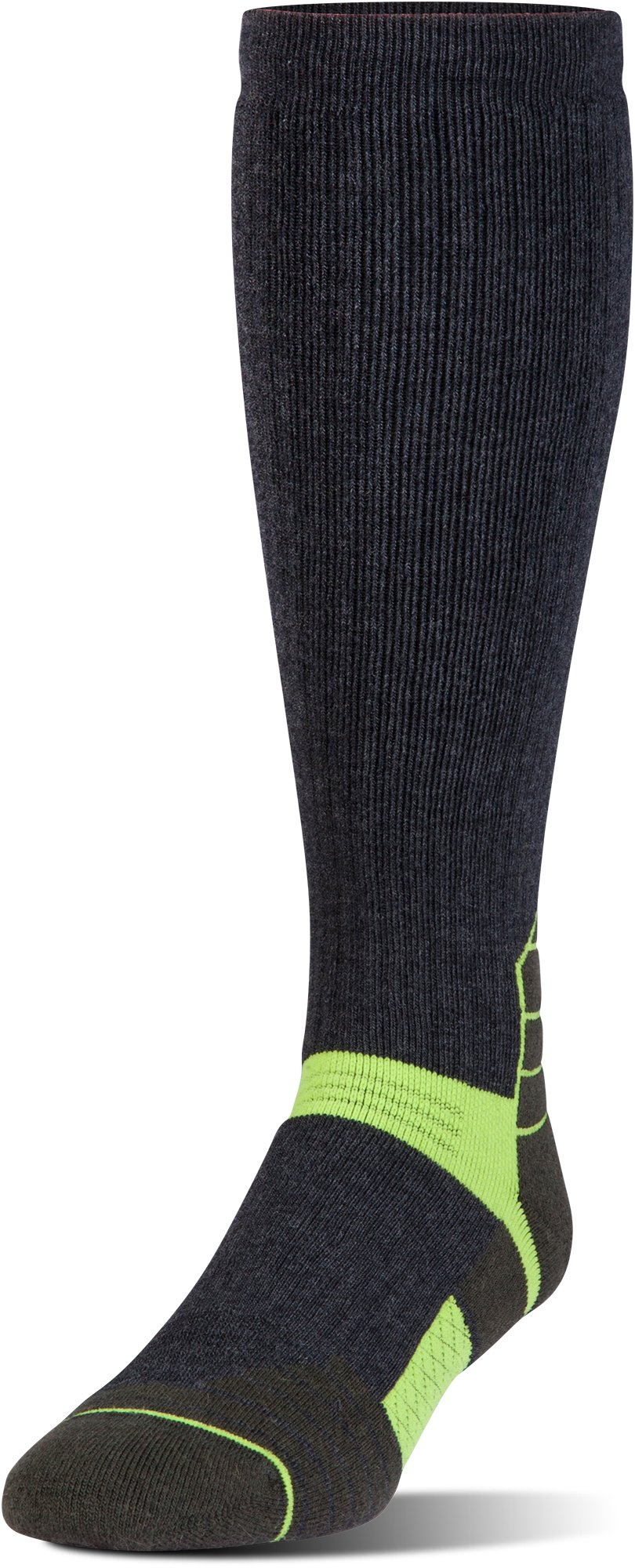 Men's UA Armour Scent Control Over-The-Calf Socks, Asphalt Heather