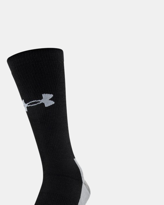 Men's UA Hitch Heavy 3.0 Boot Socks, Black, pdpMainDesktop image number 0