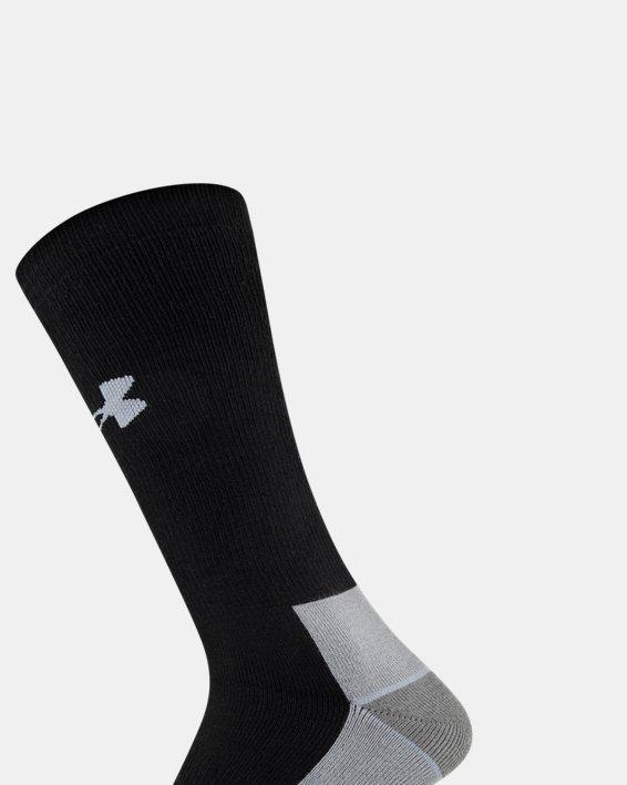 Men's UA Hitch Heavy 3.0 Boot Socks, Black, pdpMainDesktop image number 3