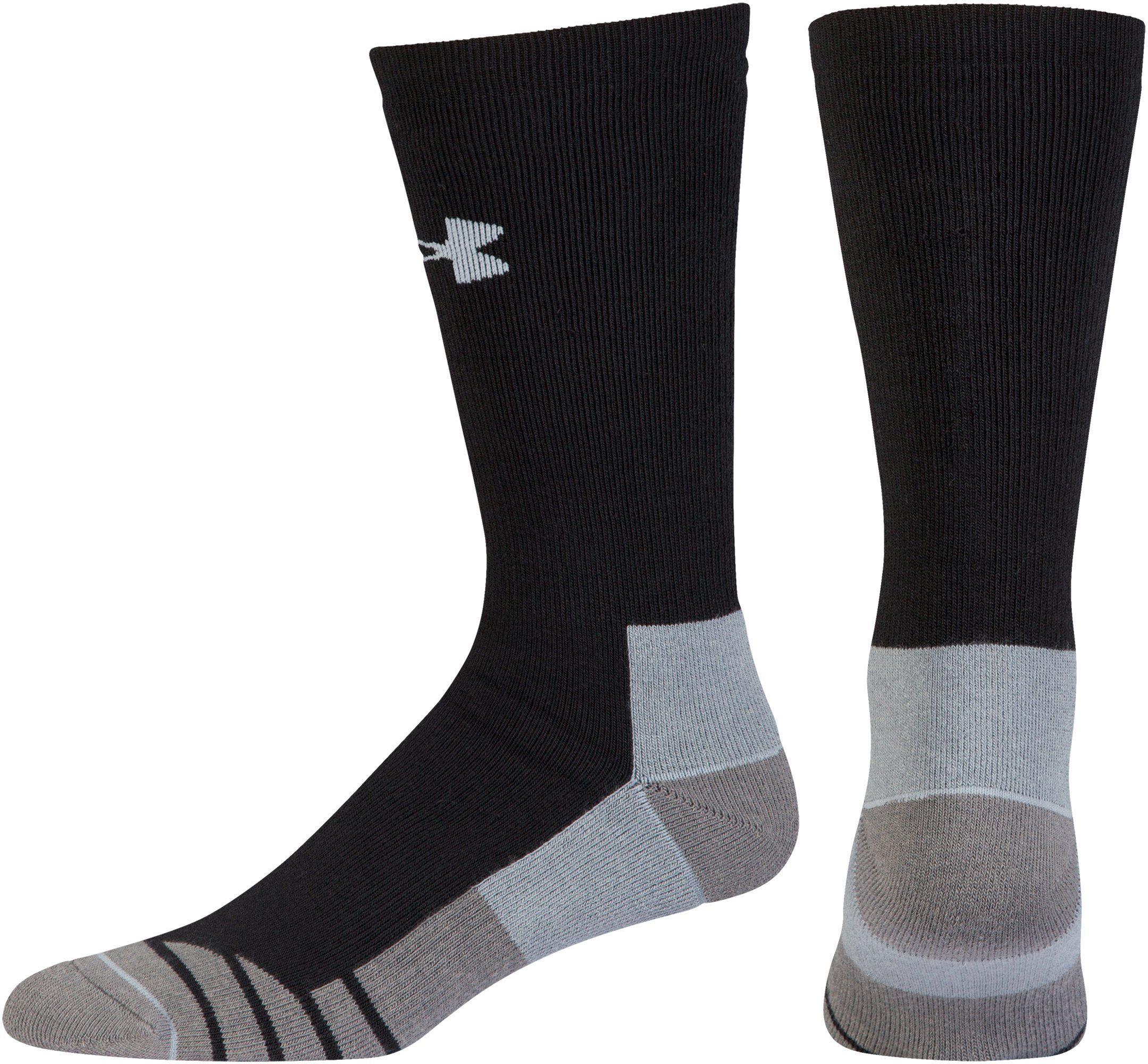 Men's UA Hitch Heavy 3.0 Boot Socks, Black