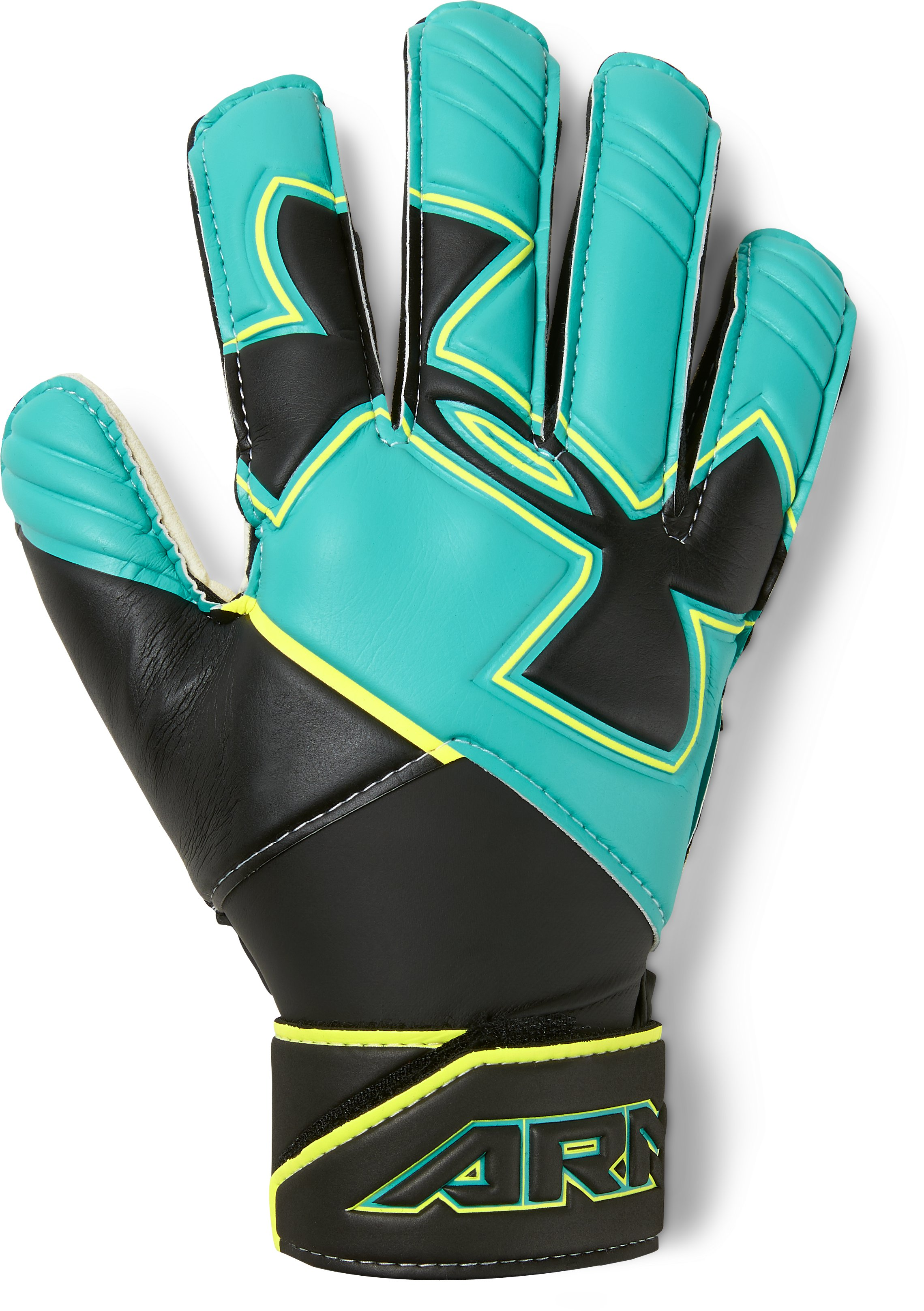 Kids' UA Desafio Soccer Gloves, TEAL PUNCH,