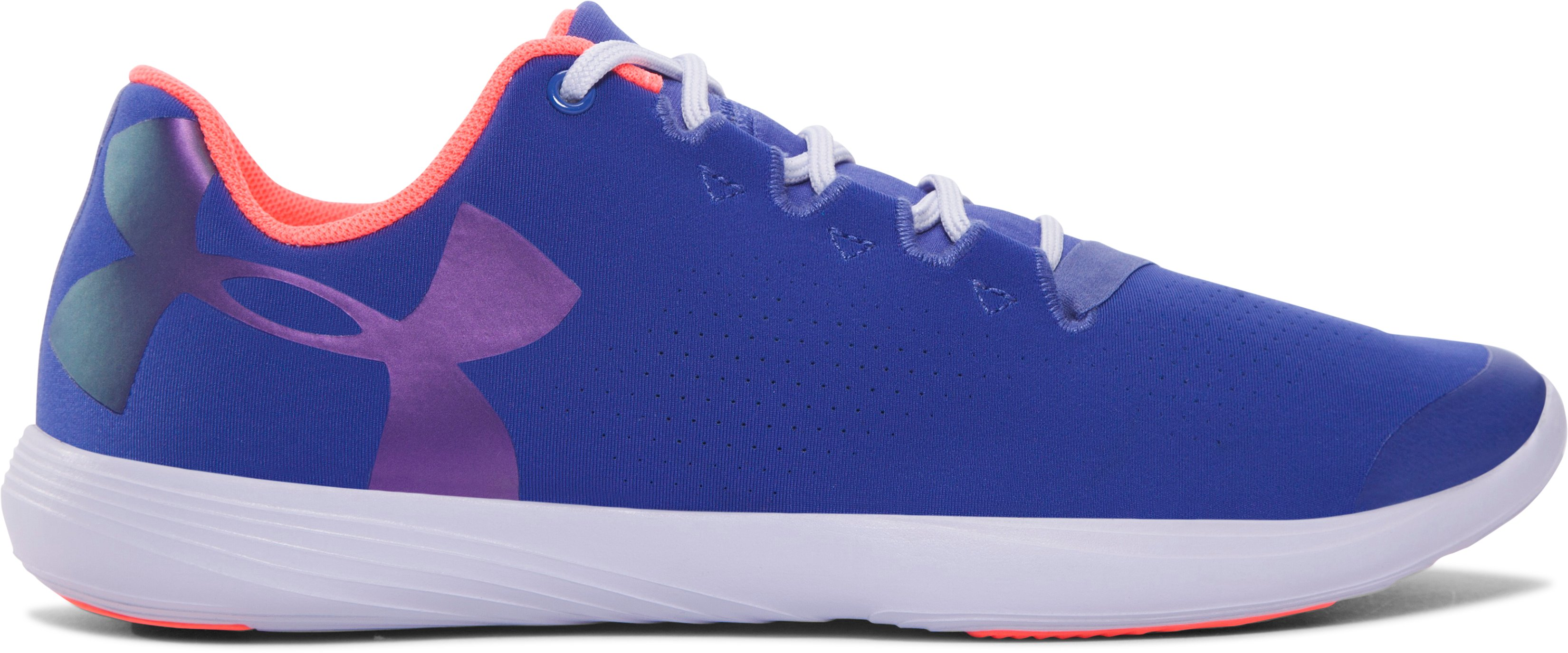 Girls' Grade School UA Street Precision Low IR Training Shoes, DEEP PERIWINKLE, undefined