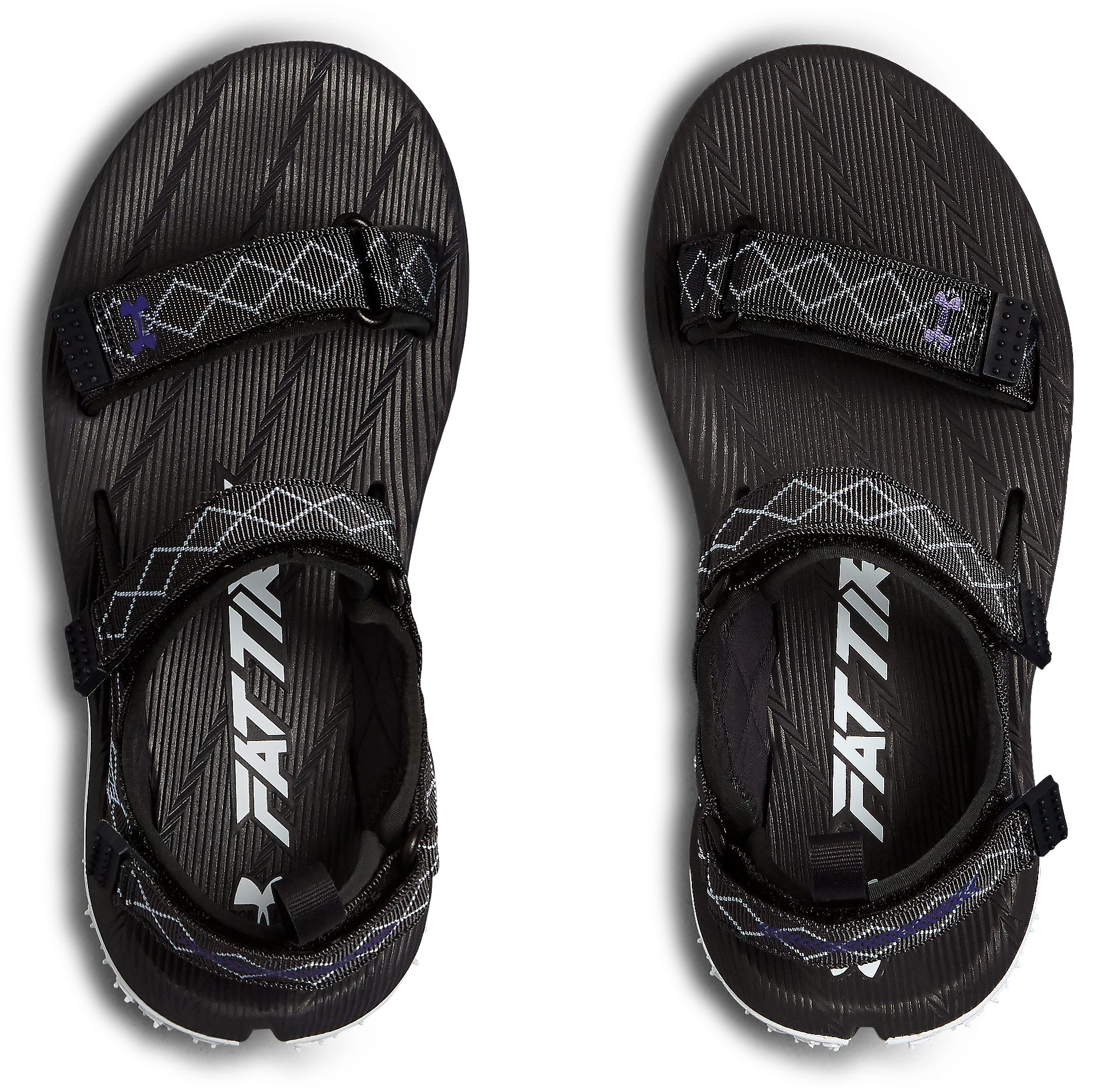 Women's UA Fat Tire Sandals, ANTHRACITE,