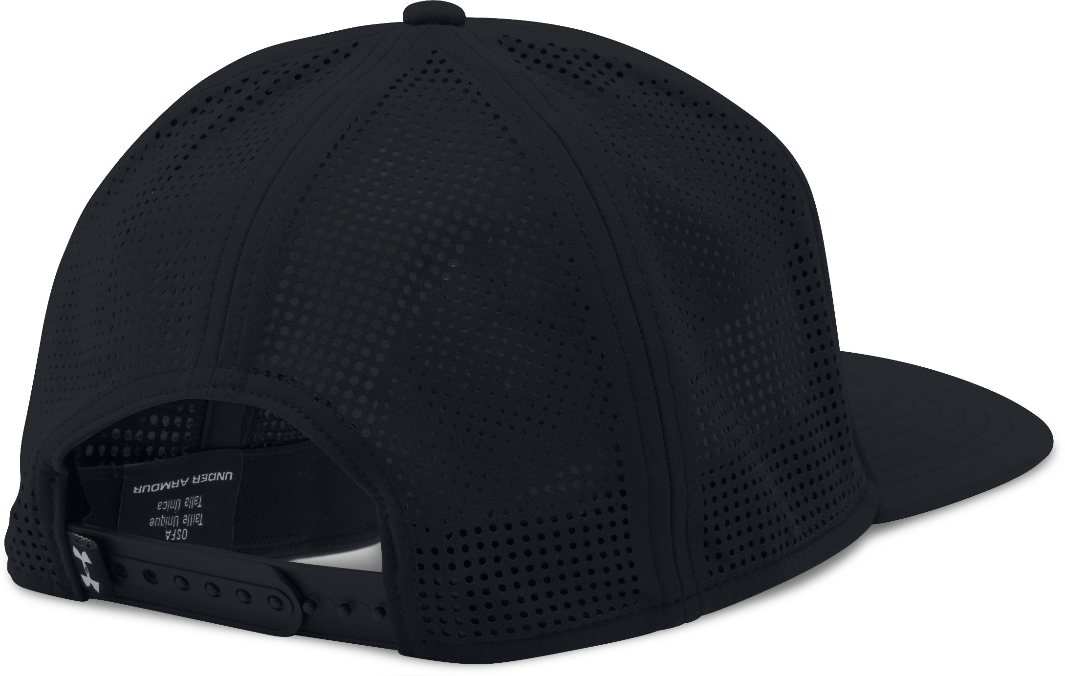 Men's UA SuperVent Flat Brim Cap, Black , undefined