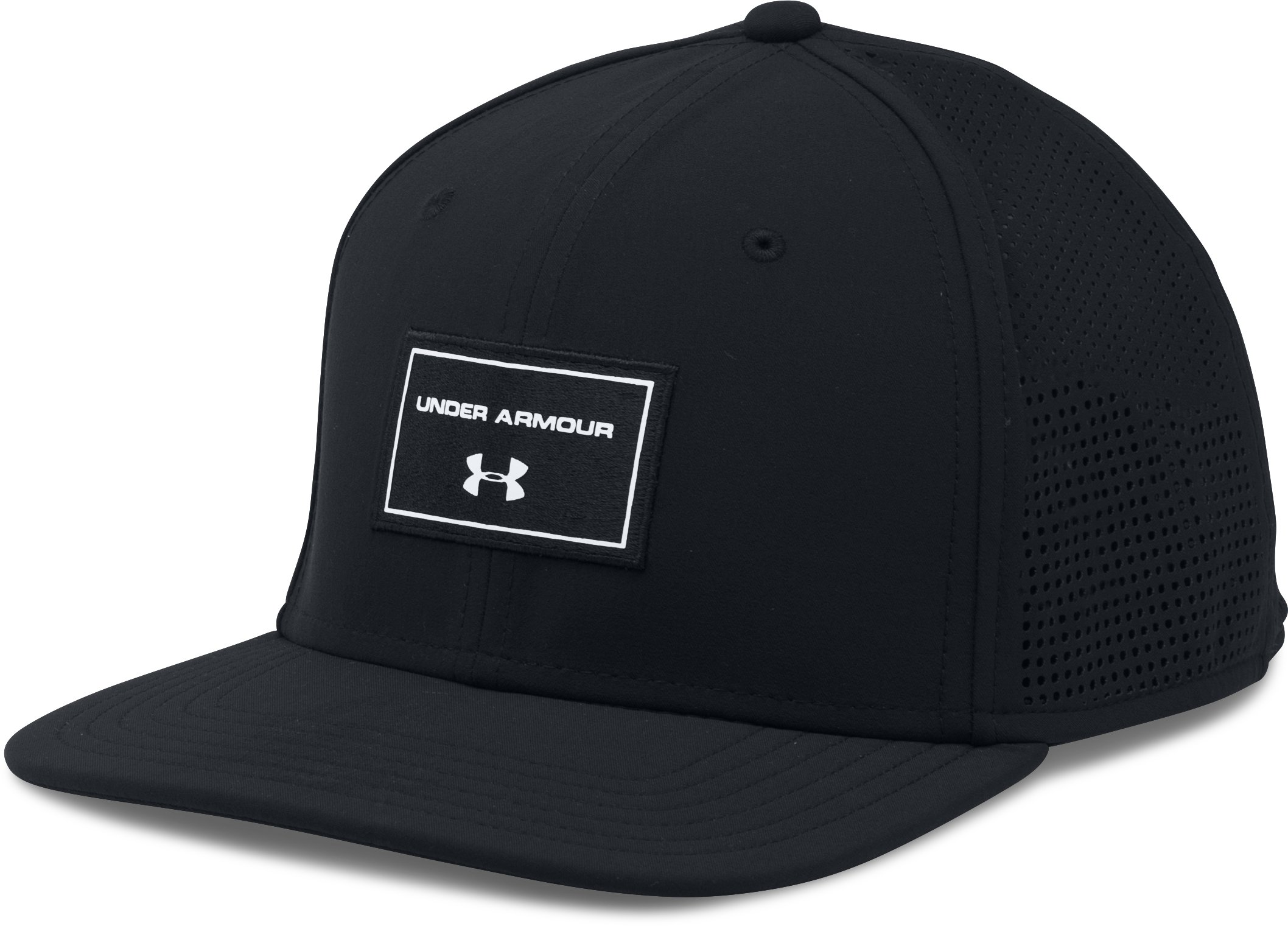 Men's UA SuperVent Flat Brim Cap, Black