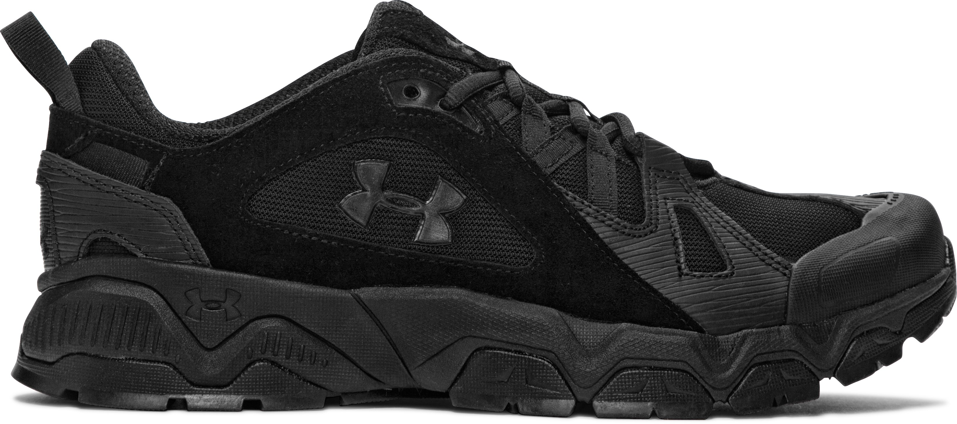 Men's UA Chetco 2.0 Tactical Running Shoes, Black , zoomed image