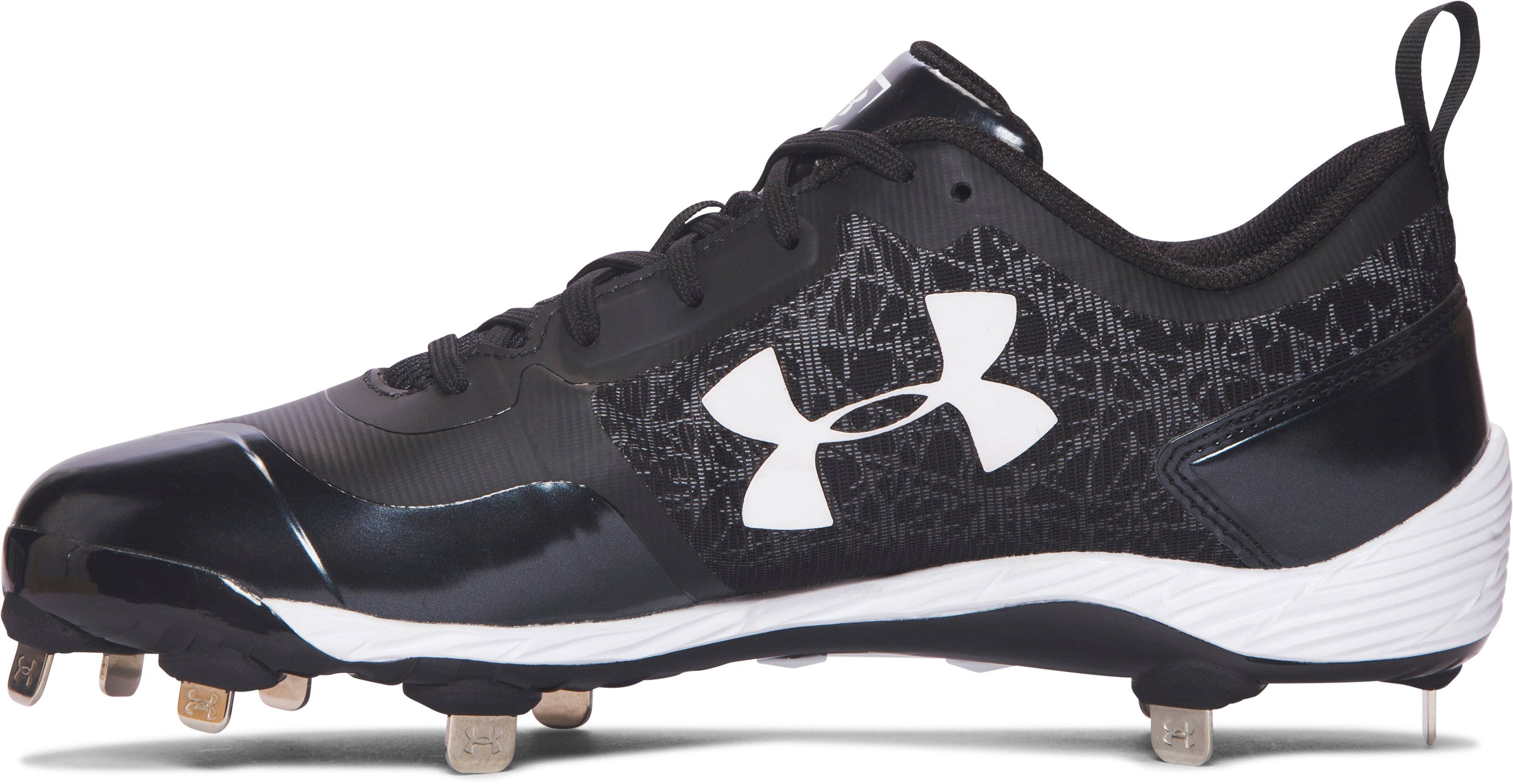 Men's UA Yard Low ST Baseball Cleats, Black ,
