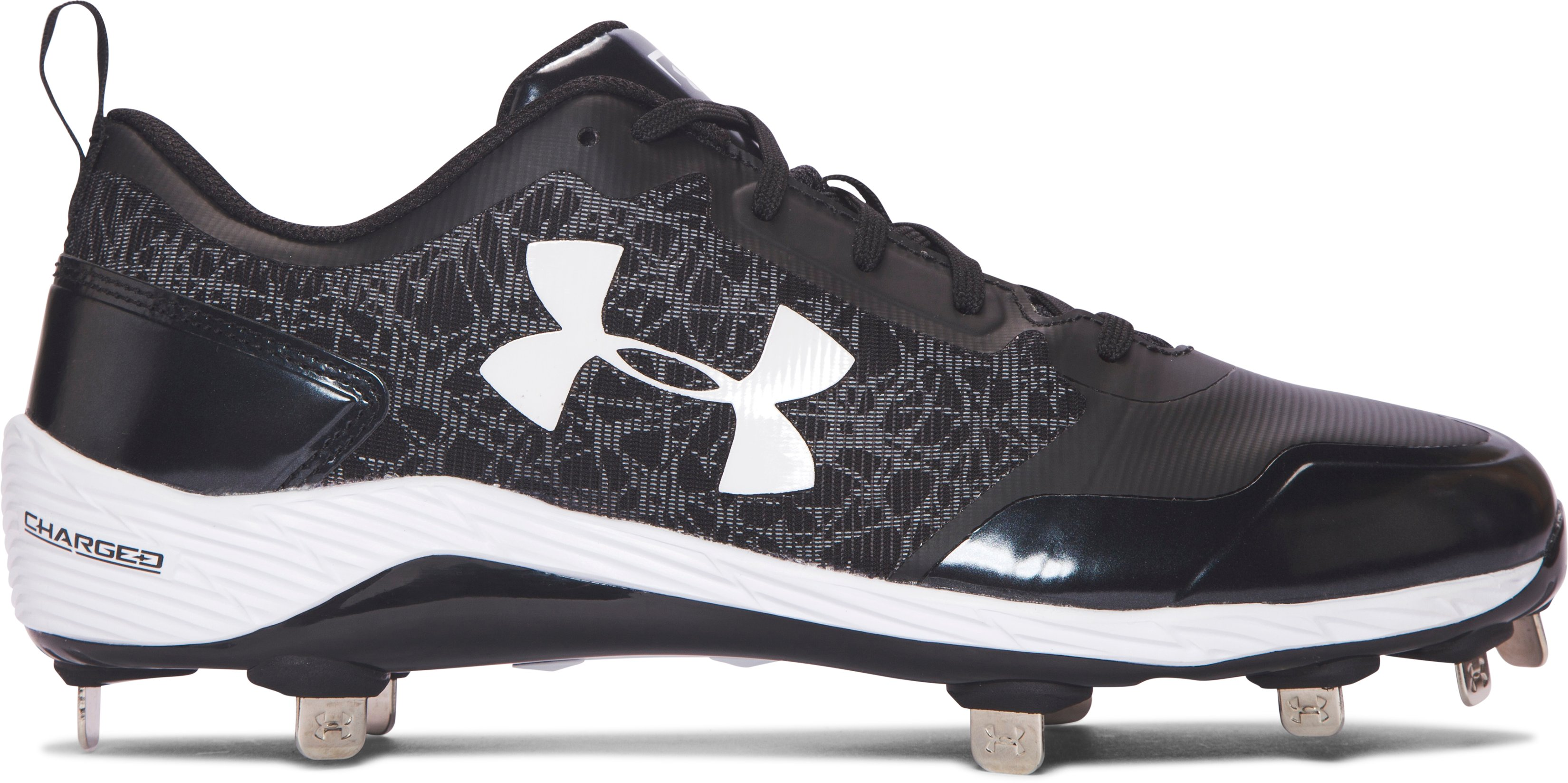 Men's UA Yard Low ST Baseball Cleats, Black