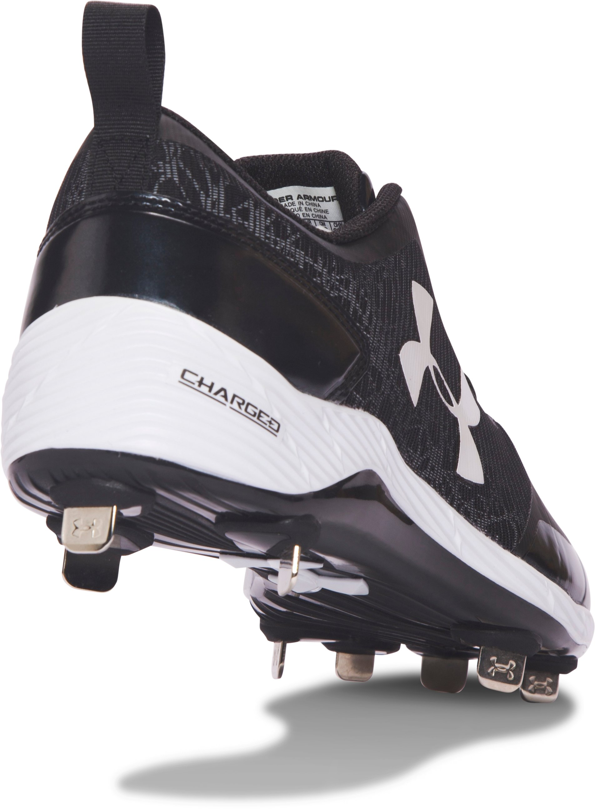 Men's UA Yard Low ST Baseball Cleats, Black , undefined