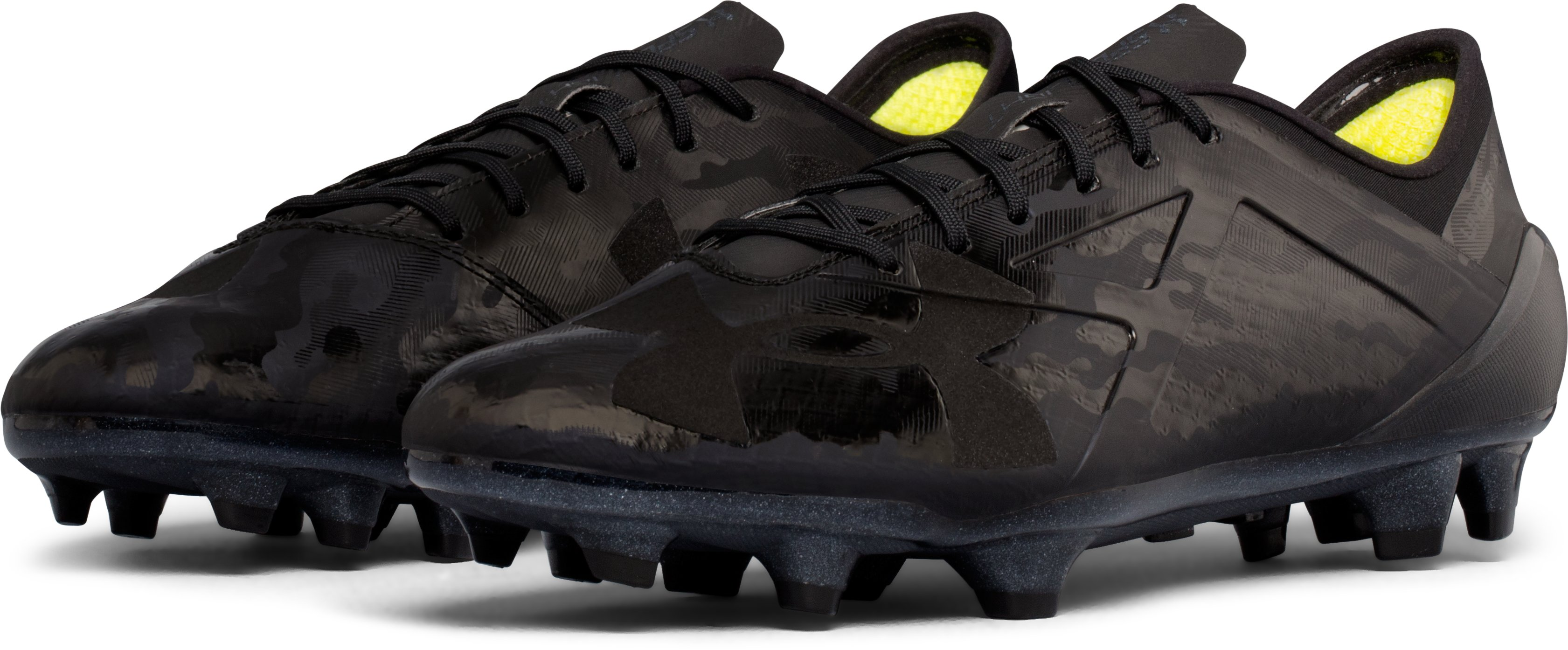 Men's UA Spotlight FG — Limited Edition Soccer Cleats, Black ,