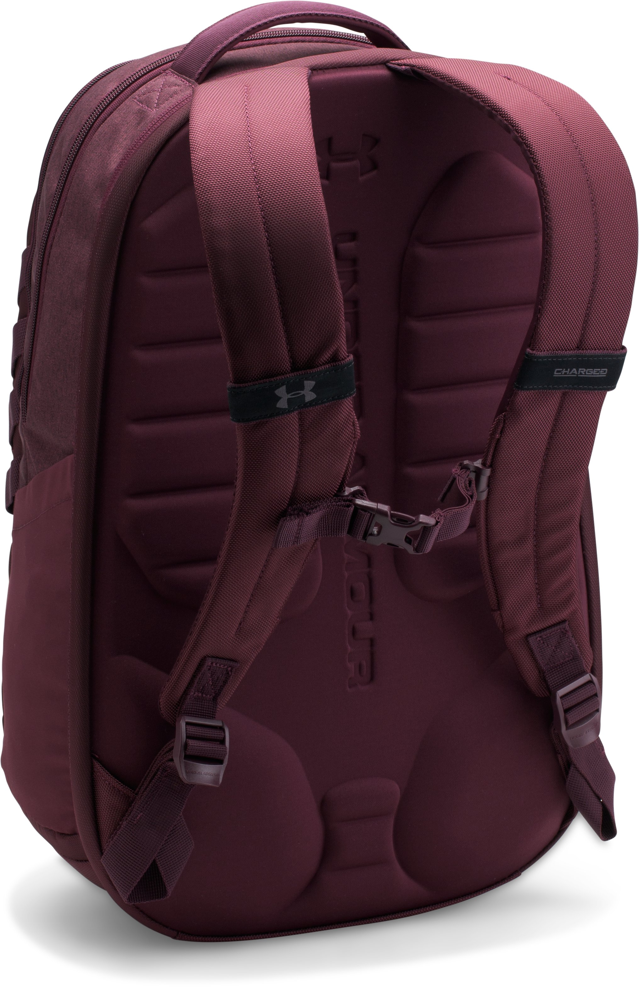 Men's UA Hudson Backpack, RAISIN RED,