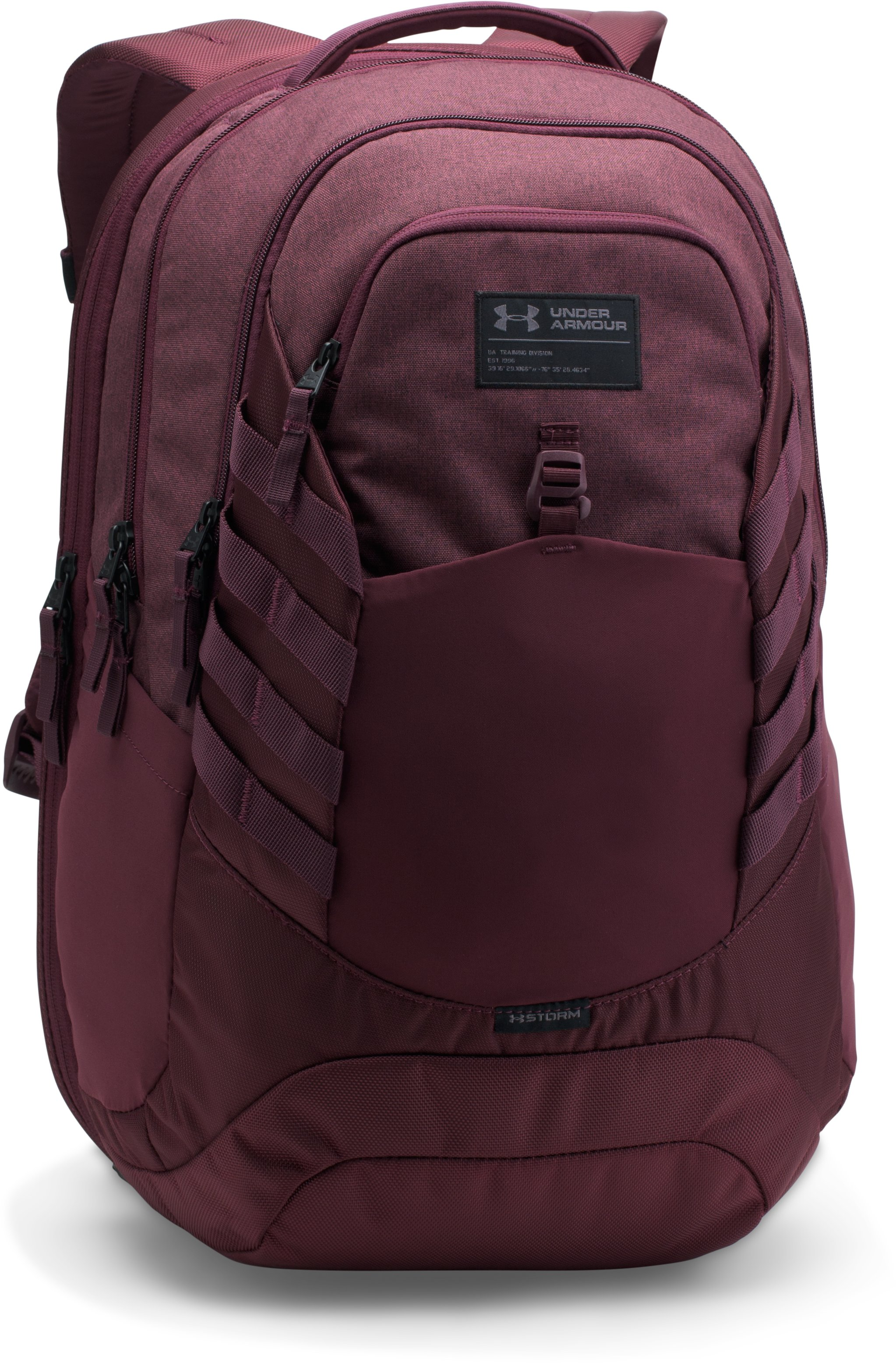 Men's UA Hudson Backpack, RAISIN RED