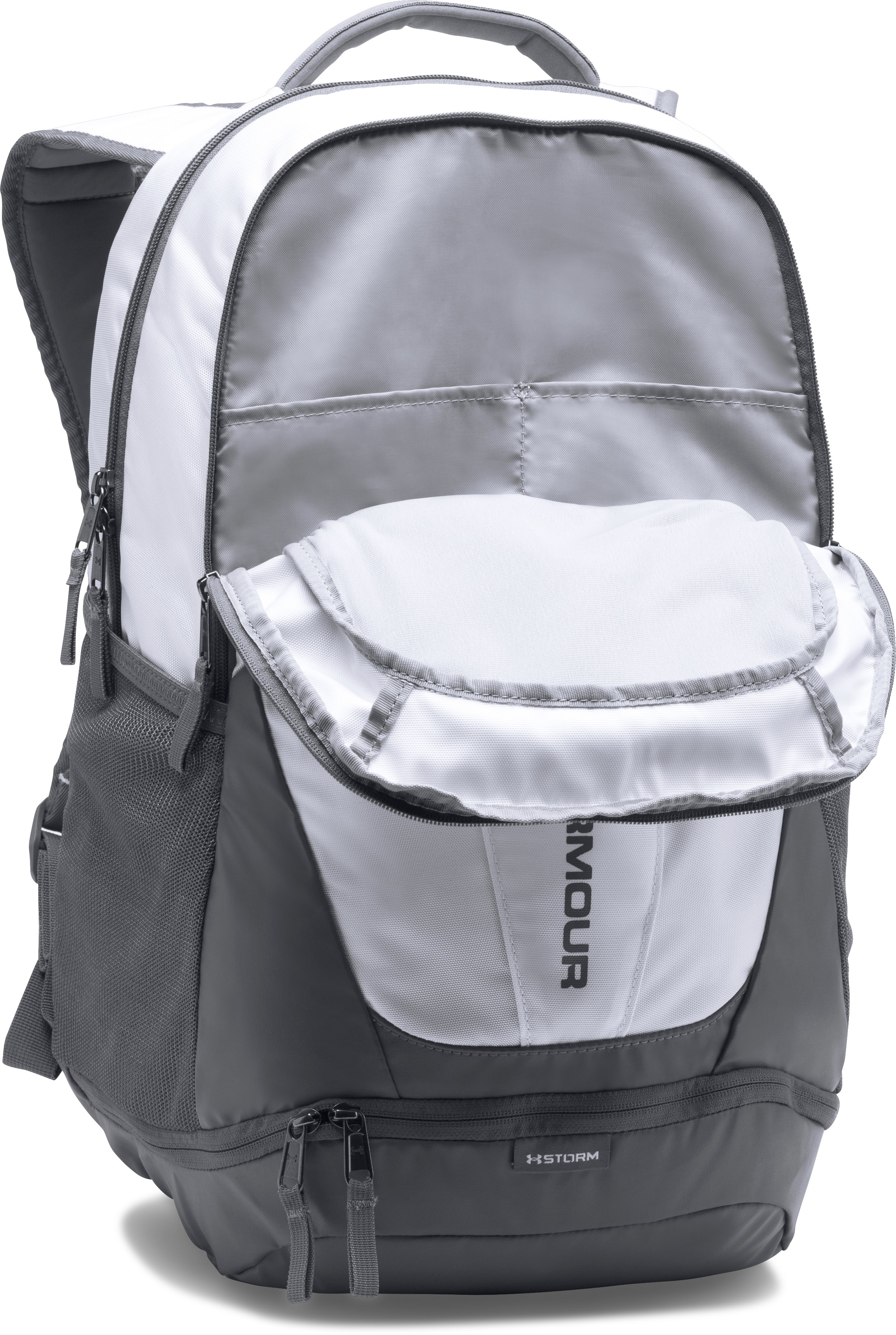 Men's UA Hustle 3.0 Backpack, White, undefined