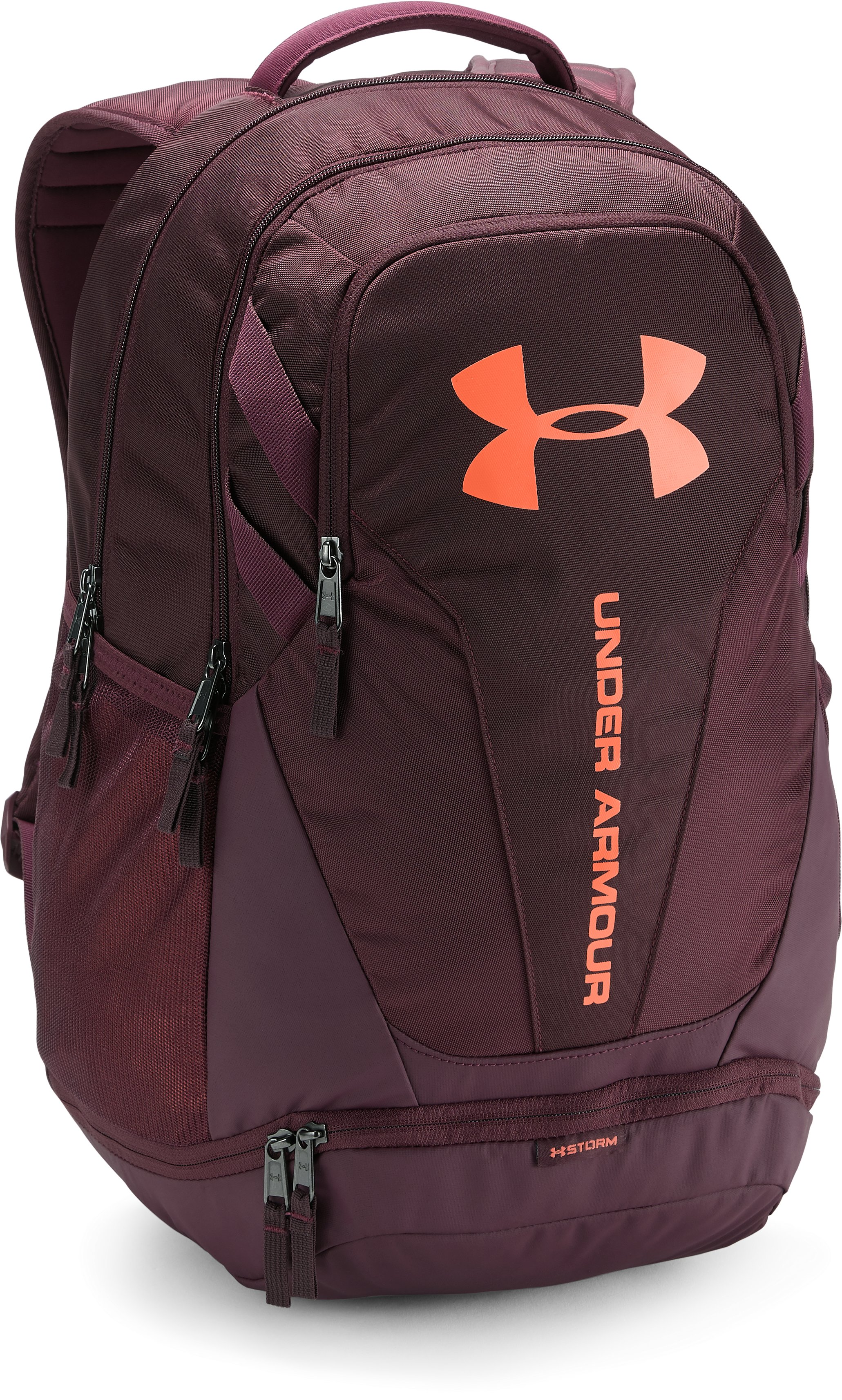 UA Hustle 3.0 Backpack, DARK MAROON,