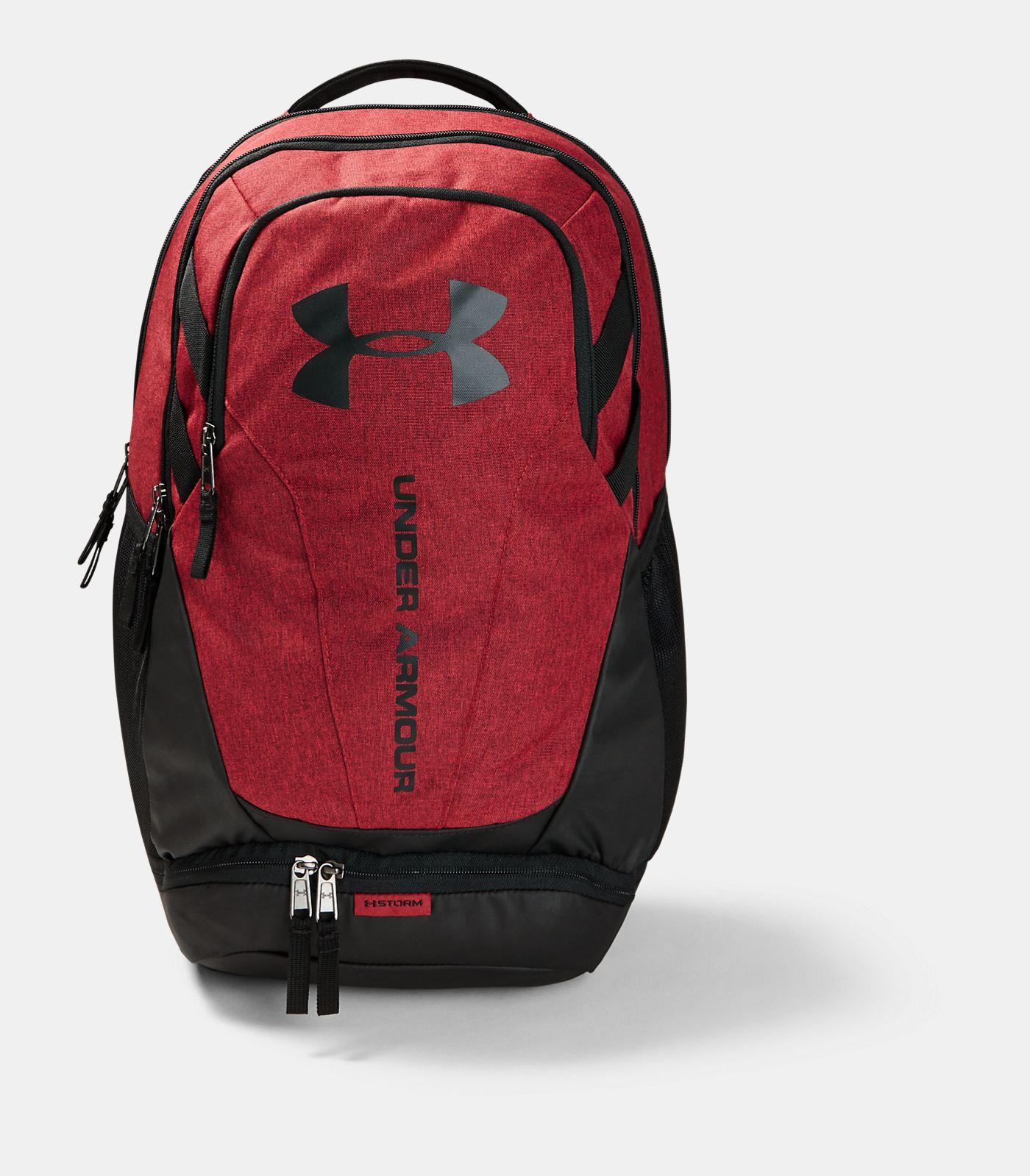 UA Hustle 3.0 Backpack, Stadium Red Medium Heather, , Stadium Red Medium Heather