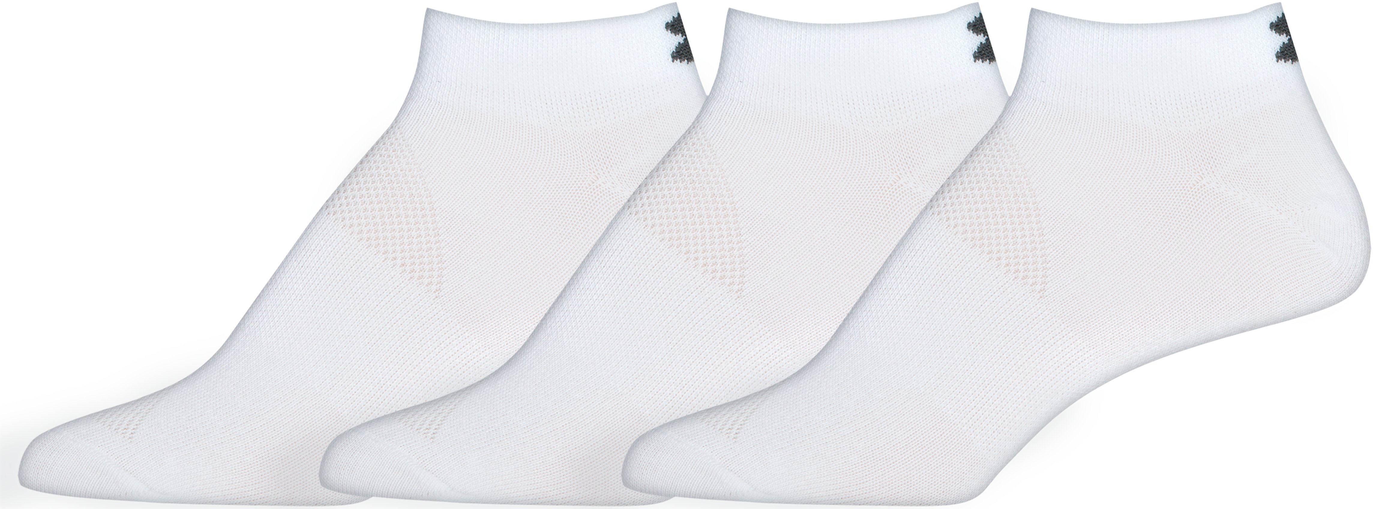 Women's UA HeatGear® No Show Socks – 3 Pack, White