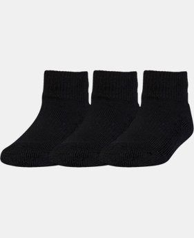Kids' Toddler UA ArmourGrip™ Low Cut Socks – 3 Pack  1 Color $9.99