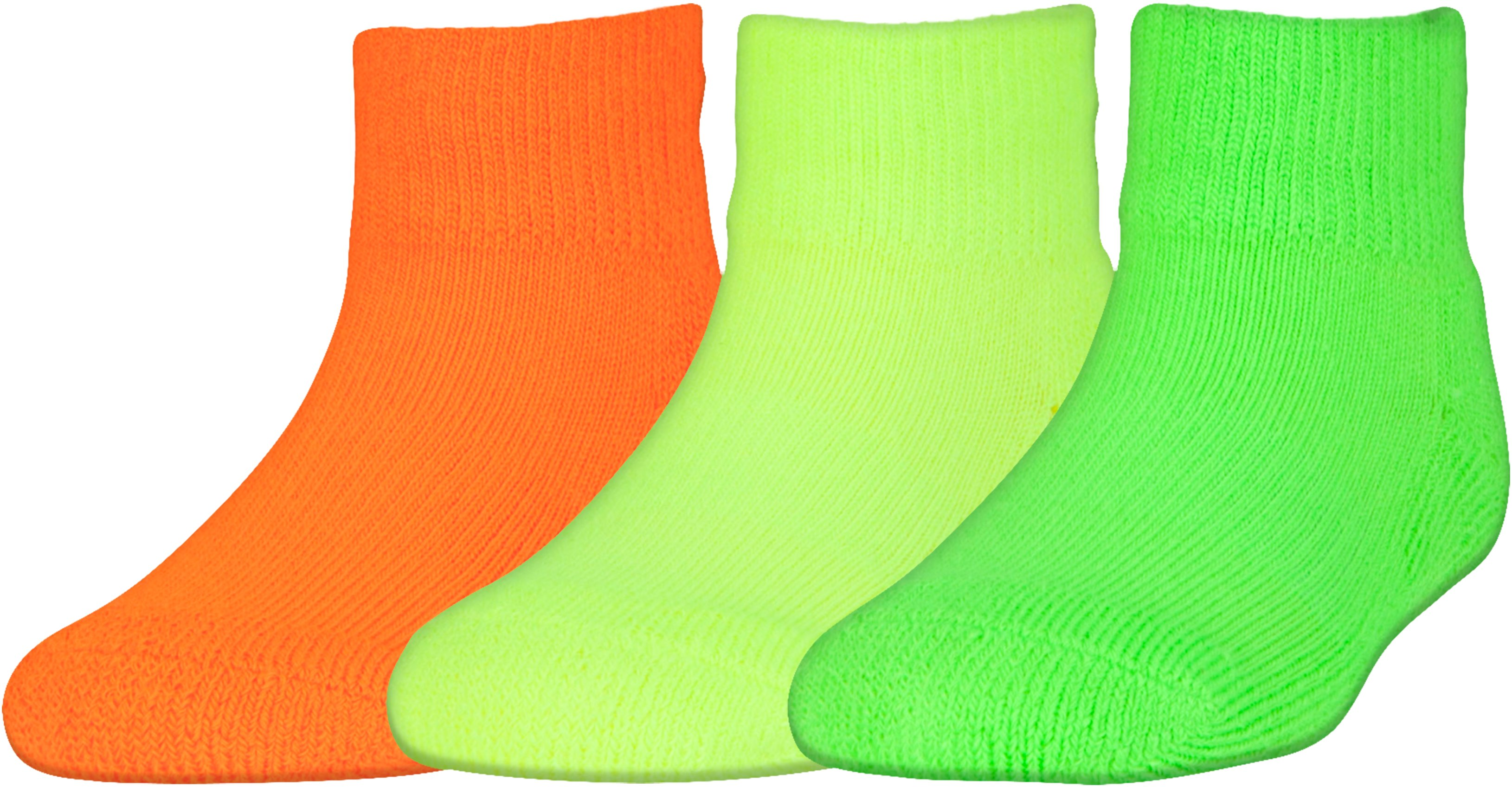 Kids' Toddler UA ArmourGrip™ Low Cut Socks – 3-Pack, HYPER GREEN