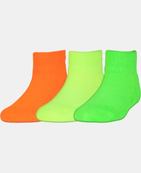 Toddler UA ArmourGrip™ Low Cut Socks – 3 Pack   $9.99