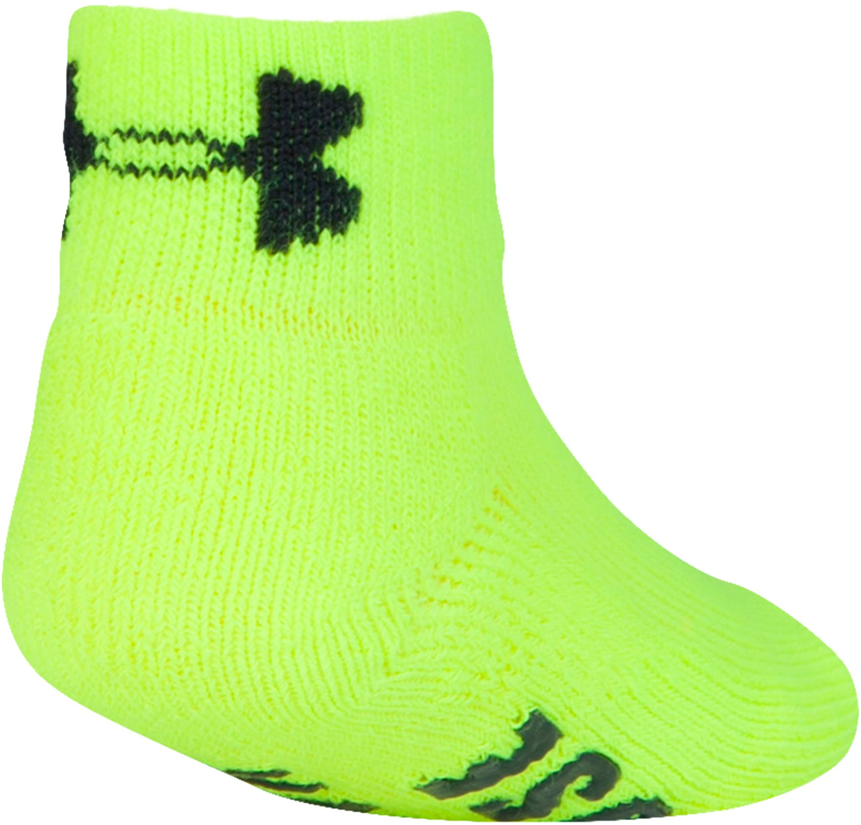 Kids' Toddler UA ArmourGrip™ Low Cut Socks – 3-Pack, HYPER GREEN, undefined