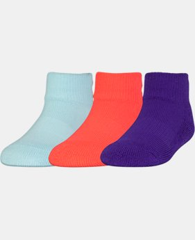 Kids' Toddler UA ArmourGrip™ Low Cut Socks – 3-Pack  1 Color $9.99