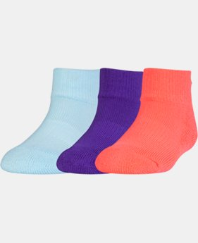 Kids' Toddler UA Low Cut Socks – 3-Pack  1 Color $8.99