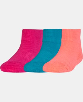 Kids' Toddler UA Low Cut Socks – 3 Pack  2 Colors $8.99