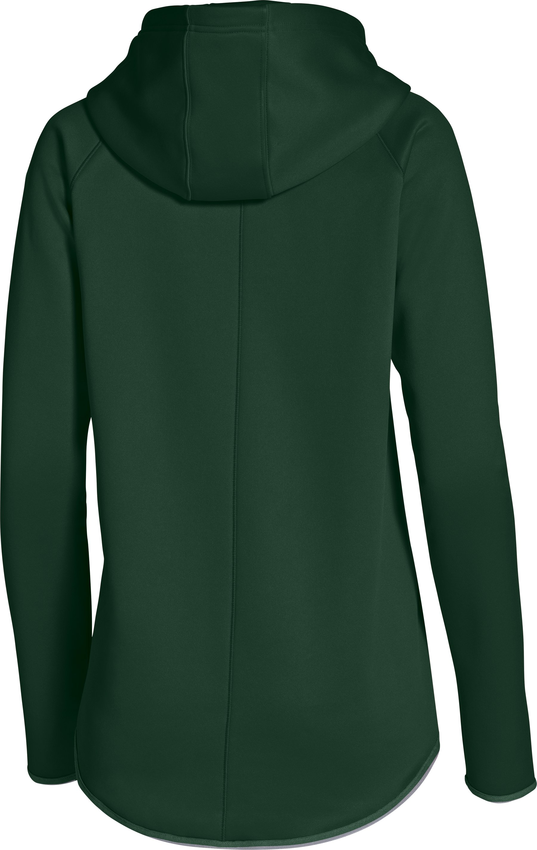 Women's UA Double Threat Armour® Fleece Hoodie, Forest Green