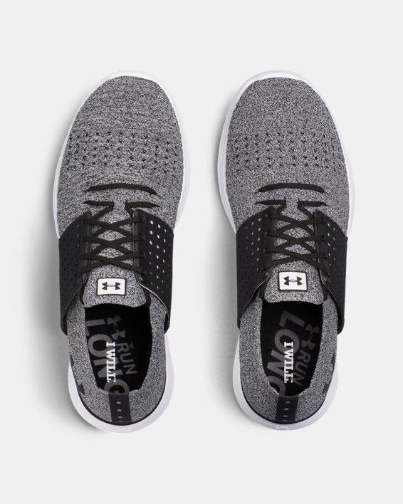 Men's UA Threadborne Slingwrap Running Shoes, Black, pdpMainDesktop image number 3