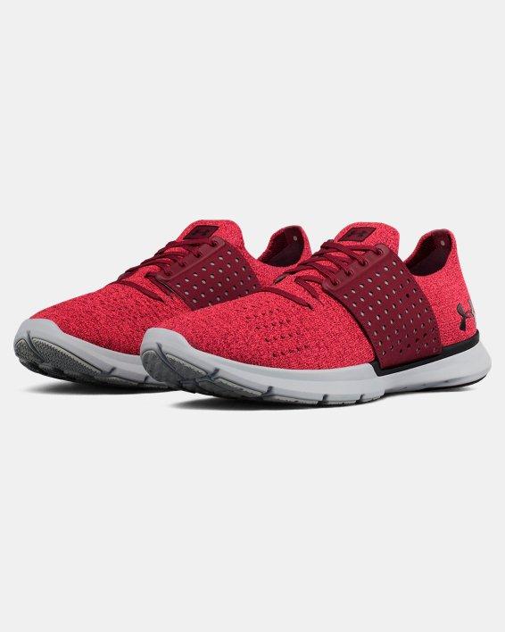 Men's UA Threadborne Slingwrap Running Shoes, Red, pdpMainDesktop image number 4