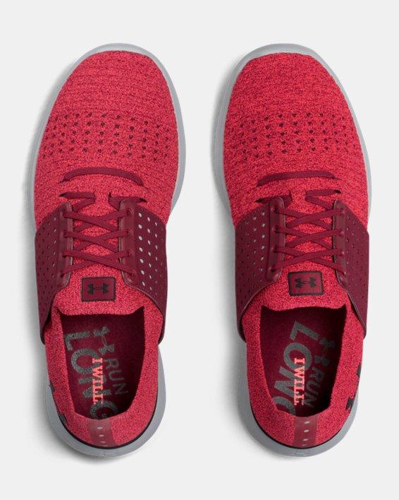 Men's UA Threadborne Slingwrap Running Shoes, Red, pdpMainDesktop image number 3
