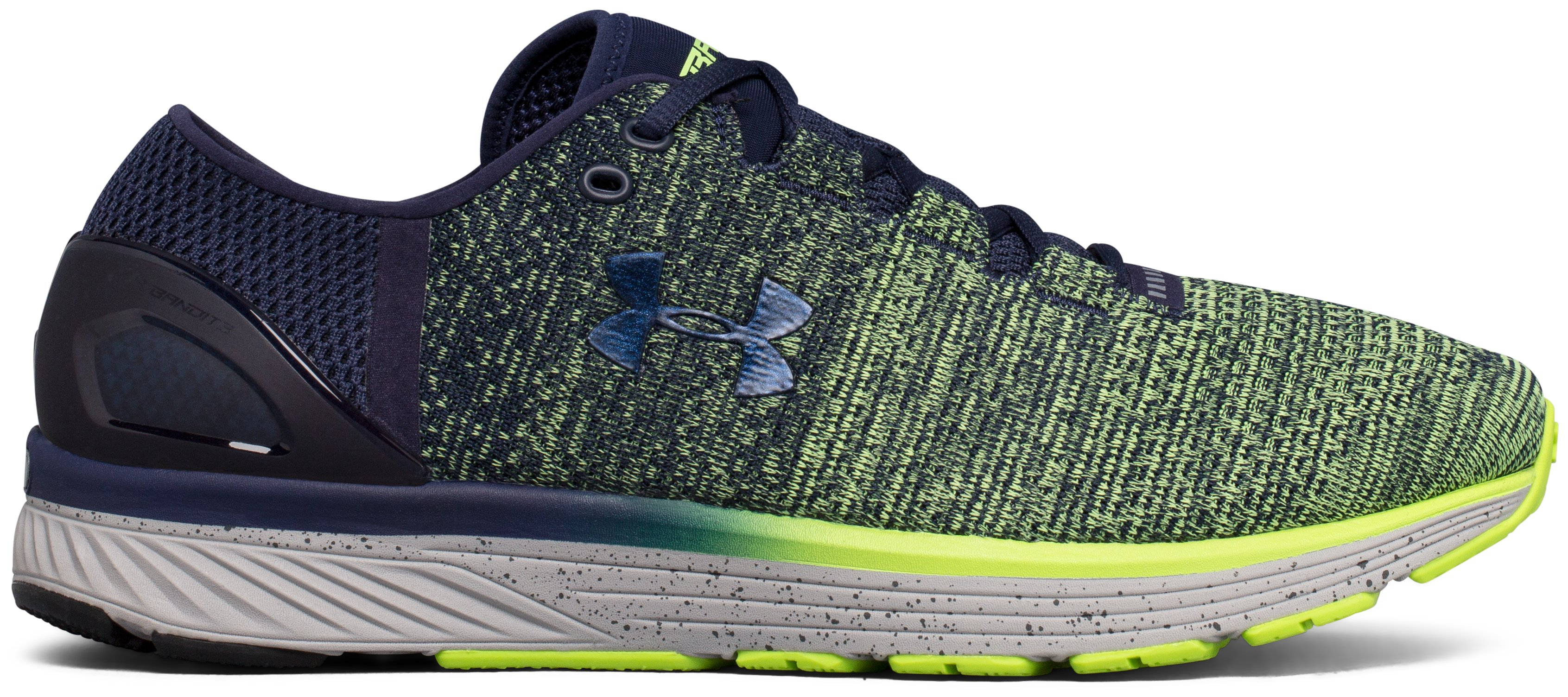 Men's UA Charged Bandit 3 Running Shoes, QUIRKY LIME