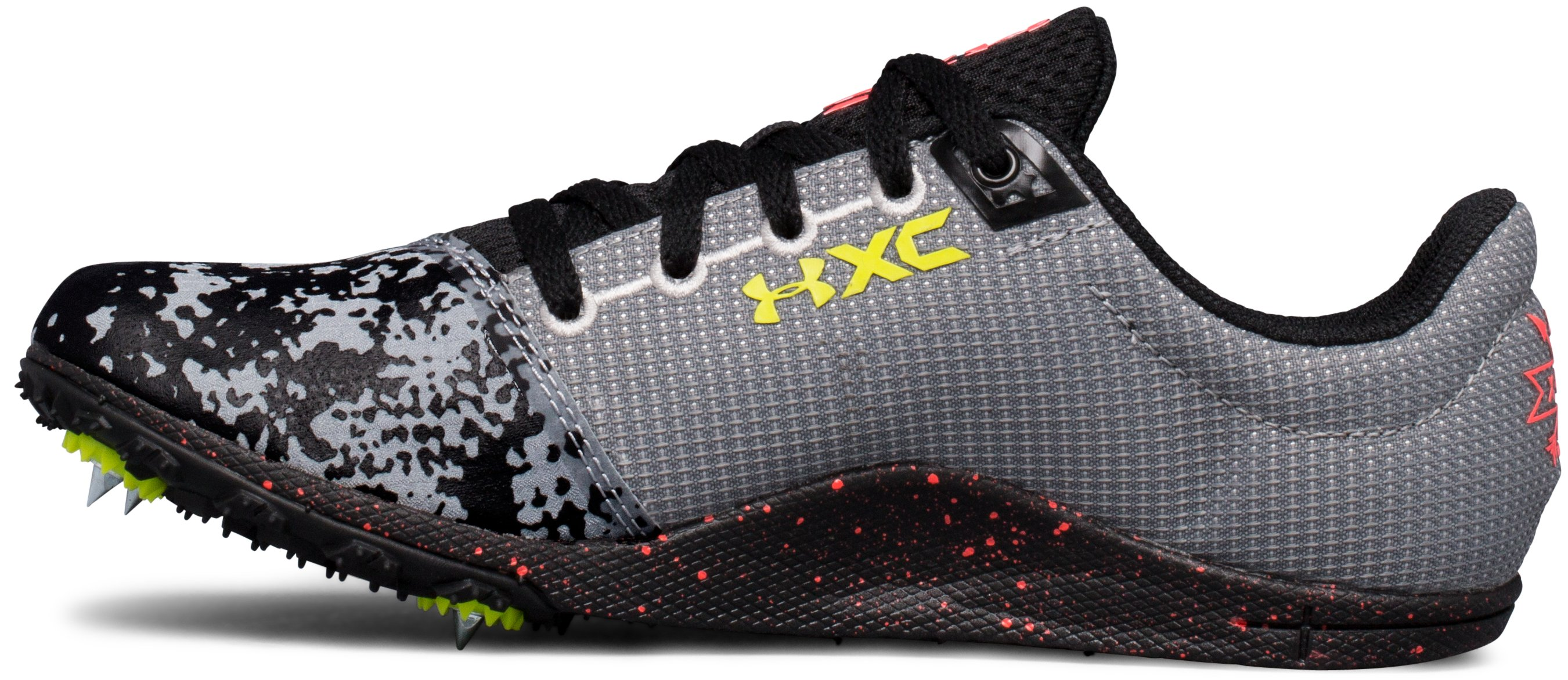 UA Brigade XC Spike Running Shoes, Steel,