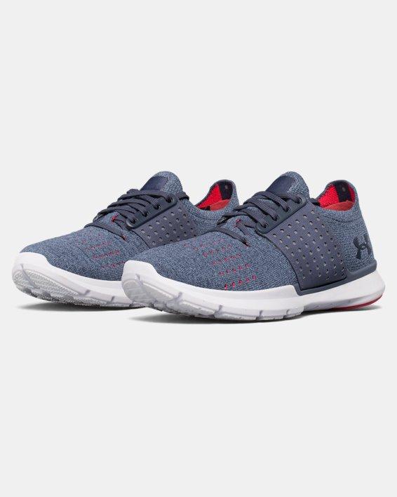 Women's UA Threadborne Slingwrap Running Shoes, Gray, pdpMainDesktop image number 4