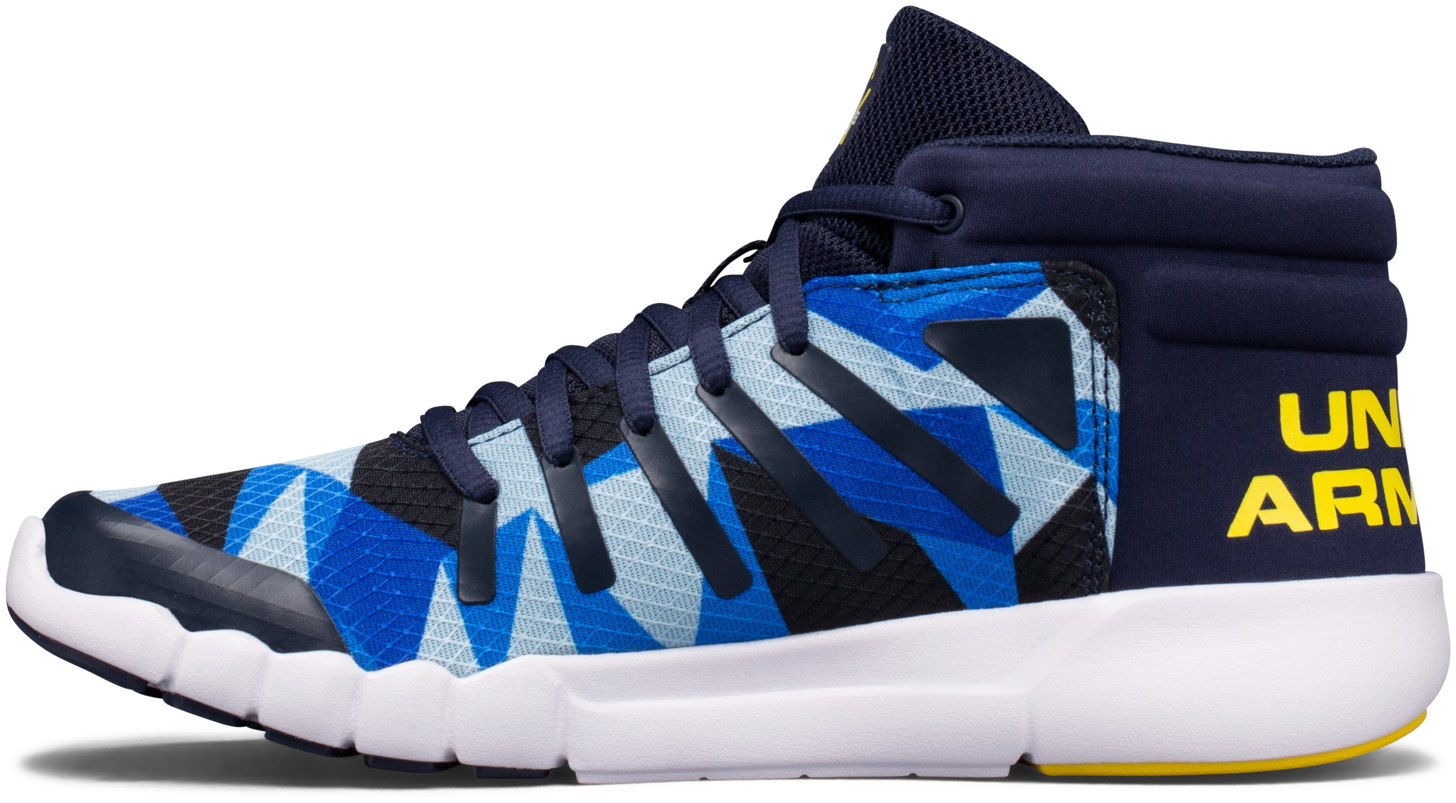Boys' Grade School UA X Level Destroyer Running Shoes, Midnight Navy,