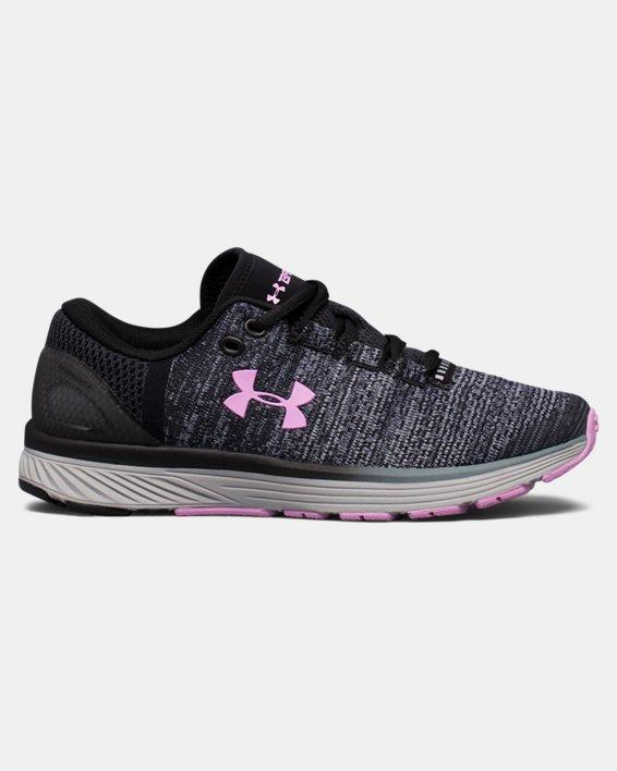 Girls' Grade School UA Charged Bandit 3 Running Shoes, Black, pdpMainDesktop image number 0