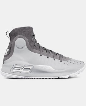 Boys' Grade School UA Curry 4 Mid Basketball Shoes  4 Colors $129.99