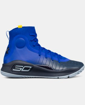 New Arrival  Boys' Grade School UA Curry 4 Mid Basketball Shoes  2 Colors $129.99