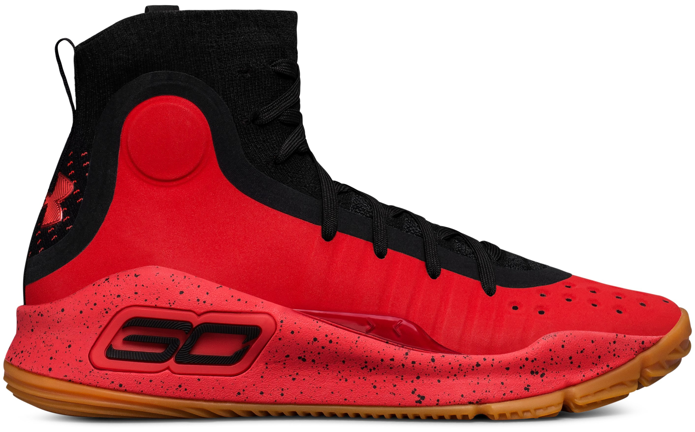 Boys' Grade School UA Curry 4 Mid Basketball Shoes, Red, undefined