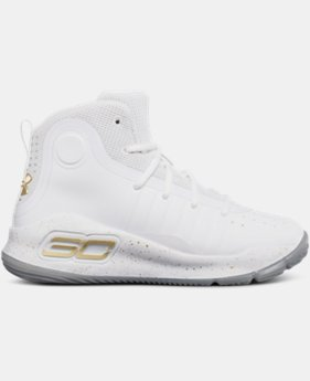 Pre-School UA Curry 4 Mid Basketball Shoes  1 Color $99.99