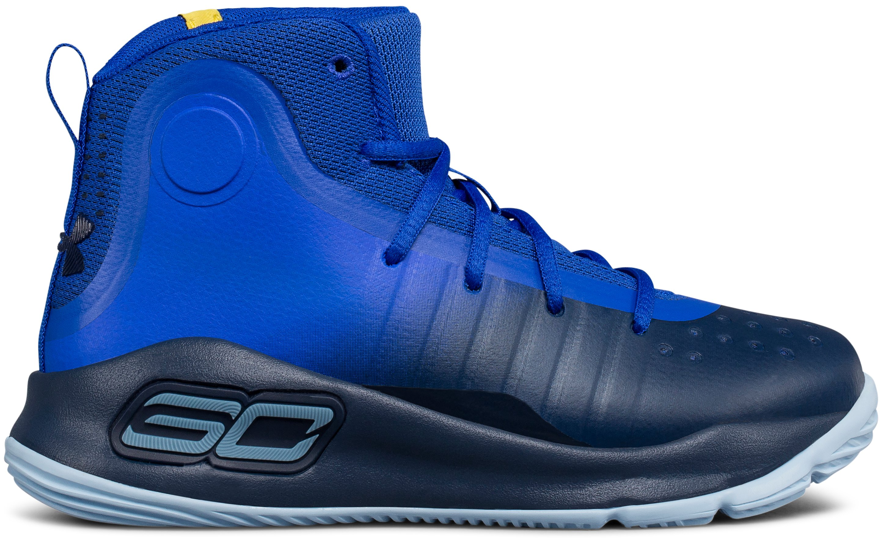 Pre-School UA Curry 4 Mid Basketball Shoes, TEAM ROYAL, undefined