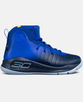 New Arrival Pre-School UA Curry 4 Mid Basketball Shoes  1 Color $79.99