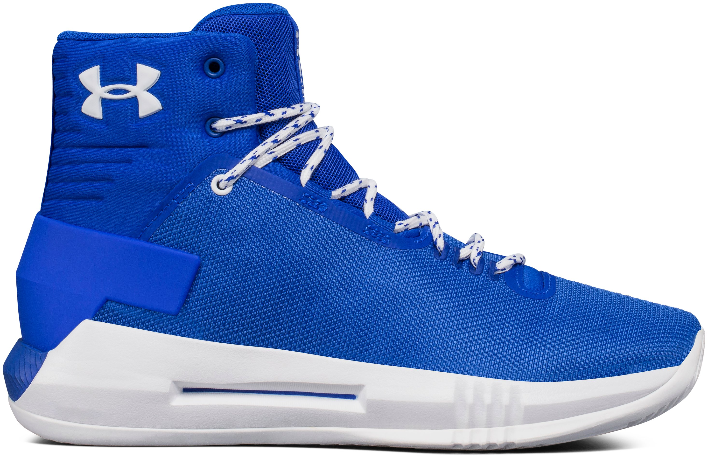 Boys' Grade School UA Drive 4 Basketball Shoes, TEAM ROYAL
