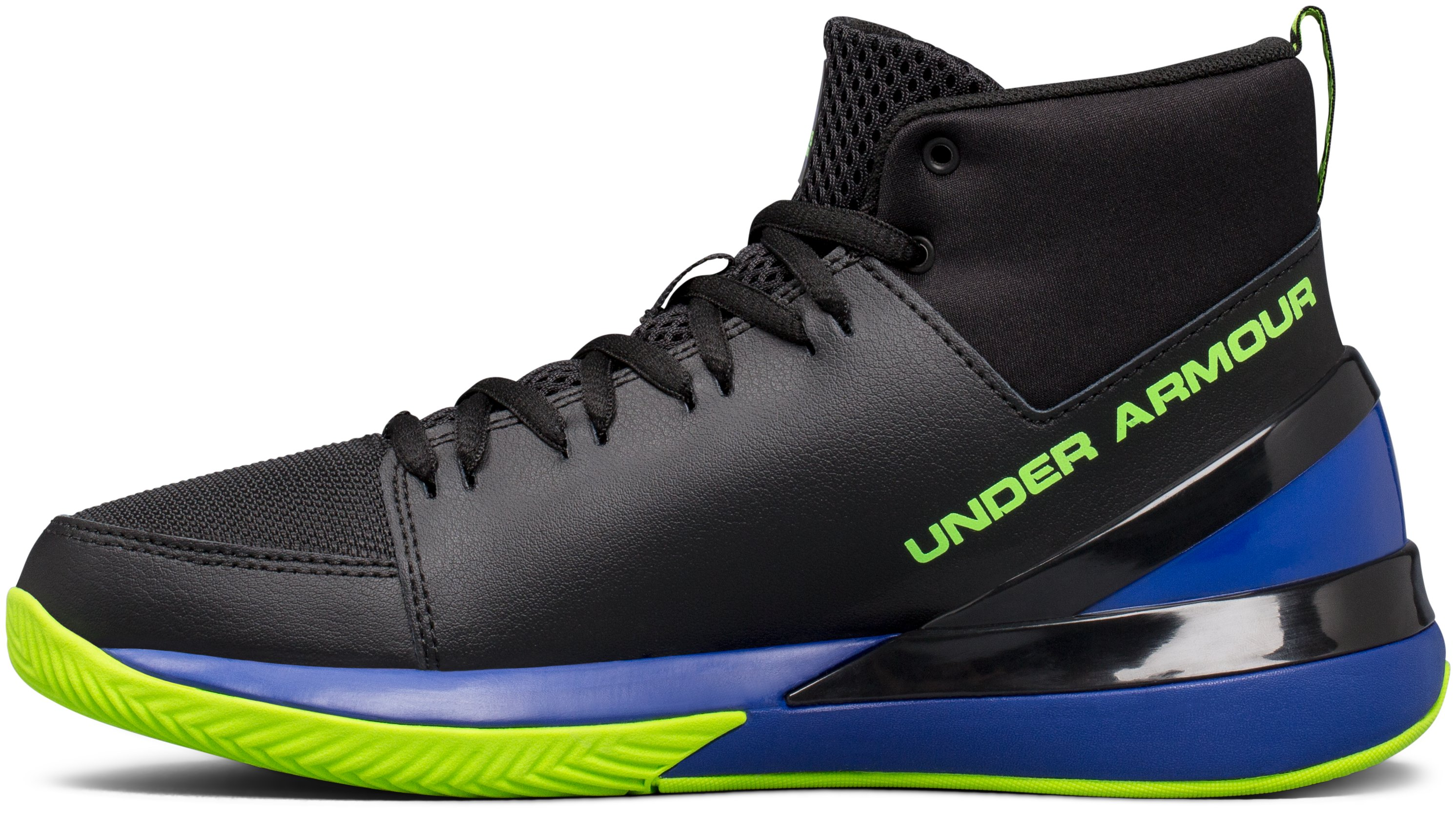 Boys' Grade School UA X Level Ninja Basketball Shoes, Black ,
