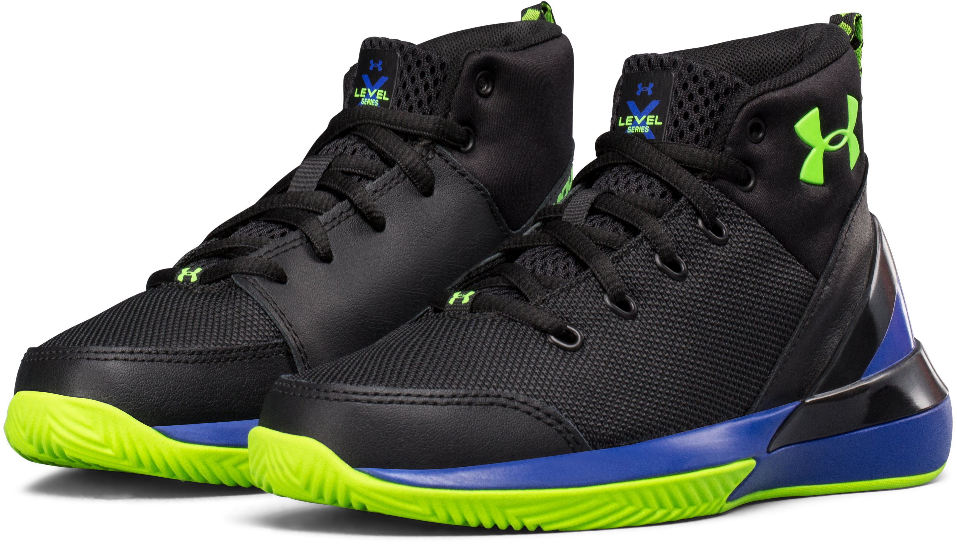 Boys' Pre-School UA X Level Ninja Basketball Shoes, Black , undefined